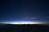 Sunrise from The Jade Mountain Main Peak.