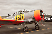Harvard prepping for a flight at Warbirds Over the West.