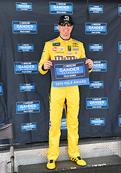 March 1, 2019 - Las Vegas, NV, U.S. - LAS VEGAS, NV - MARCH 01: Kyle Busch (51) KBM Toyota Tundra wins the pole award after qualifying on the pole position for the NASCAR Gander Outdoors Truck Series Strat 200 on March 01, 2019, at Las Vegas Motor Speedway in Las Vegas, NV. (Photo by Chris Williams/Icon Sportswire) (Credit Image: © Chris Williams/Icon SMI via ZUMA Press)
