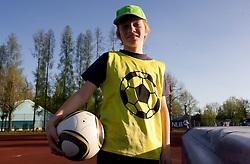 Young football player during football match between NK Triglav Gorenjska and NK Olimpija in 27th Round of Slovenian 1st League PrvaLiga, on April 10, 2011 in Sports park Kranj, Slovenia. (Photo By Vid Ponikvar / Sportida.com)