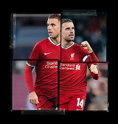 LIVERPOOL, ENGLAND - Saturday, August 1, 2020: Liverpool's captain Jordan Henderson pictured in  the new home shirt as part of Liverpool FC's new 2020/21 kit. A 5 year deal with American sportswear brand Nike reported to be worth $39.5m per year replaces their current contract with New Balance. This is a handout picture from Liverpool FC. (Pic by Liverpool FC/Nike via Propaganda)