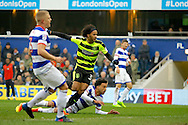 Huddersfield Town striker Isaiah Brown (37) scores a goal (score 0-1) during the EFL Sky Bet Championship match between Queens Park Rangers and Huddersfield Town at the Loftus Road Stadium, London, England on 11 February 2017. Photo by Andy Walter.