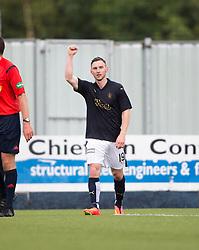 Falkirk's Bob McHugh (19) celebrates after scoring their third goal. Falkirk 3 v 1 East Fife, Petrofac Training Cup played 25th July 2015 at The Falkirk Stadium.