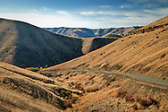 Blind Grade road climbs from the Tucannon River in the Blue Mountain Foothills of Garfield County in southeastern WA, USA.