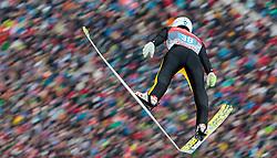 01.01.2016, Olympiaschanze, Garmisch Partenkirchen, GER, FIS Weltcup Ski Sprung, Vierschanzentournee, Bewerb, im Bild Evgeniy Klimov (RUS) // Evgeniy Klimov of Russian Federation during his Competition Jump of Four Hills Tournament of FIS Ski Jumping World Cup at the Olympiaschanze, Garmisch Partenkirchen, Germany on 2016/01/01. EXPA Pictures © 2016, PhotoCredit: EXPA/ JFK