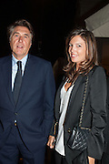 BRYAN FERRY; AMANDA SHEPPARD, Dinner to celebrate the opening of the first Berluti lifestyle store hosted by Antoine Arnault and Marigay Mckee. Harrods. London. 5 September 2012.
