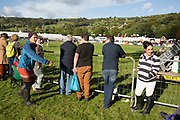 People watching events in the main arena. 'Pateley Show', as the Nidderdale Show is affectionately known, is a traditional Dales agricultural show for the finest livestock, produce and crafts in the Yorkshire Dales. Held in the picturesque surrounds of Bewerley Park, Pateley Bridge, is one of the county's foremost shows. It regularly attracts crowds of 17,000 and traditionally marks the end of the agricultural show season.
