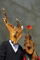 France. Ariege. Village d'artiste de Carla-Bayle. Martine et Pierre Louis Boudra. Musée des amoureux d'Angelique. //  France. Ariege. Carla-Bayle village.