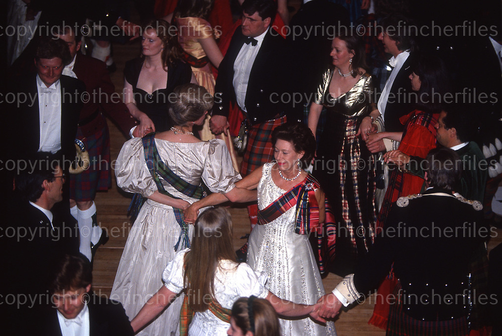 Princess Margaret seen at the Royal Caledonian Ball at the Grovesnor House Hotel, London in may 1993. Photographed by Jayne Fincher