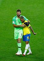 Becker Alisson (Brazil) and Neymar (Brazil)<br /> Moscow 27-06-2018 Football FIFA World Cup Russia  2018 <br /> Serbia - Brazil / Serbia - Brasile<br /> Foto Matteo Ciambelli/Insidefoto