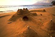Sand Castle, Wailea Beach, Wailea, Maui, Hawaii, USA<br />