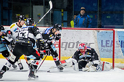 30.11.2018, Ice Rink, Znojmo, CZE, EBEL, HC Orli Znojmo vs Dornbirn Bulldogs, 24. Runde, im Bild v.l. Stefan Hauble (Dorbirn Bulldogs) Radim Matus (HC Orli Znojmo) Rostislav Snajnar (HC Orli Znojmo) Teemu Tapio Lassila (HC Orli Znojmo) // during the Erste Bank Eishockey League 24th round match between HC Orli Znojmo and Dornbirn Bulldogs at the Ice Rink in Znojmo, Czechia on 2018/11/30. EXPA Pictures © 2018, PhotoCredit: EXPA/ Rostislav Pfeffer