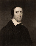 Jeremy Taylor (1613-1667) English churchman. Graduated from Gonville and Caius College, Cambridge. Protégé of Archbishop William Laud and a chaplain to Charles I.  In the English Civil War when Laud was impeached and executed for high treason, Taylor came under suspicion and between 1645 and 1657 he was imprisioned three times by the Parliamentarians.    After the Restoration of the Monarchy in 1660 he was appointed Bishop of Down and Connor in Ireland. Engraving.