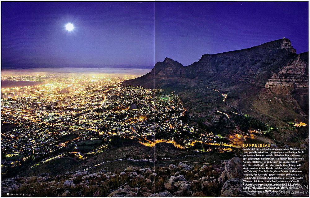Double-page spread in Geo Saison magazine.