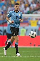 June 25, 2018 - Samara, Russia - Sebastian Coates of Uruguay in action during the 2018 FIFA World Cup Russia group A match between Uruguay and Russia at Samara Arena on June 25, 2018 in Samara, Russia. (Credit Image: © Foto Olimpik/NurPhoto via ZUMA Press)