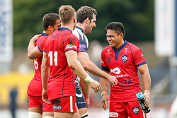 Bristol Winger David Lemi laughs after his side win the match 13-26 - Photo mandatory by-line: Rogan Thomson/JMP - 07966 386802 - 14/09/2014 - SPORT - RUGBY UNION - Leeds, England - Headingley Carnegie Stadium - Yorkshire Carnegie v Bristol Rugby - Greene King IPA Championship.