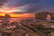 Sunset Over Arch Rock at Cameo Shores Corona Del Mar