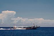 Bangka boat offshore of Mindoro Island, Philippines, Southeast Asia, 2016