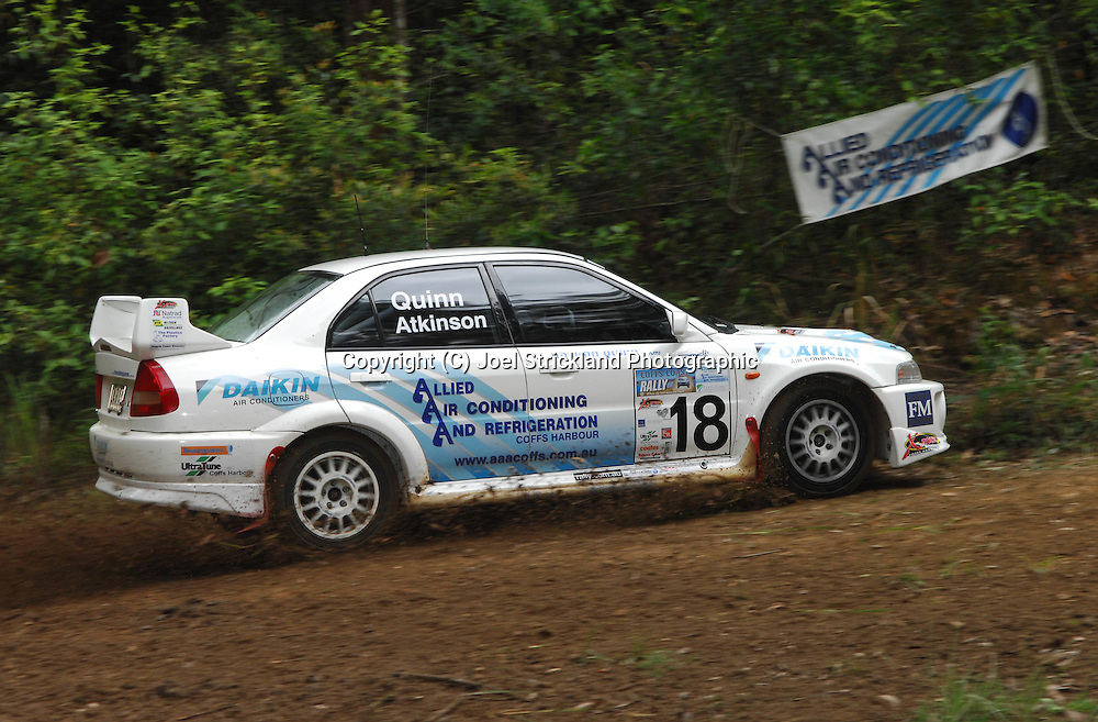 Nathan Quinn & Ben Atkinson.Motorsport-Rally/2008 Coffs Coast Rally.Shakedown, Bucca Rd, .Coffs Harbour, NSW.14th of November 2008.(C) Joel Strickland Photographics