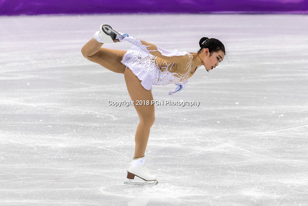 Karen Chen (USA) competing in the Figure Skating - Ladies' Short at the Olympic Winter Games PyeongChang 2018