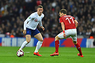 Ross Barkley of England during the UEFA European 2020 Qualifier match between England and Czech Republic at Wembley Stadium, London, England on 22 March 2019.