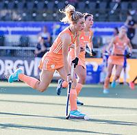 AMSTELVEEN - Laura Nunnink (Ned)  tijdens  dames wedstrijd , Nederland-Schotland (10-0),  bij het EK hockey. Euro Hockey 2021.   COPYRIGHT KOEN SUYK