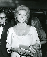 "1979 Rhonda Fleming at the movie premiere of ""Hurricane"" at Mann's Chinese Theater"