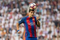 Luis Suarez of FC Barcelona during the match of La Liga between Real Madrid and Futbol Club Barcelona at Santiago Bernabeu Stadium  in Madrid, Spain. April 23, 2017. (ALTERPHOTOS)
