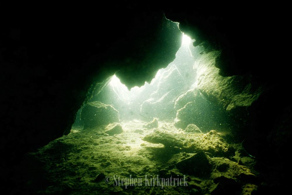 Underwater Cave in Lake - Quebec, Canada