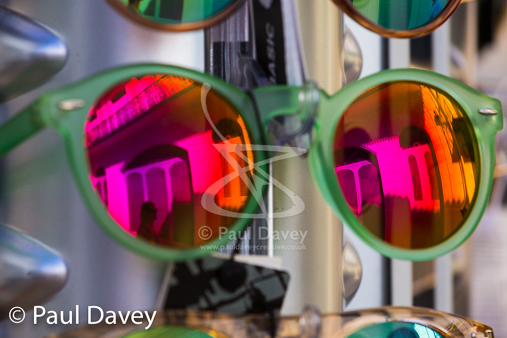 Sunglasses in Funchal, Madeira. MADEIRA, September 26 2018. © Paul Davey