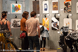 The Oil and Ink 2016 art print tour at the Handbuilt Motorcycle Show. Austin, TX, USA. April 10, 2016.  Photography ©2016 Michael Lichter.