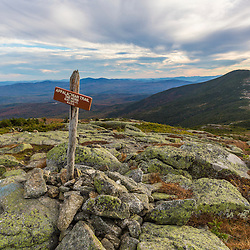 """The Appalachian Trail on """"The Horn"""" on Saddleback Mountain in Maine's High Peaks Region."""