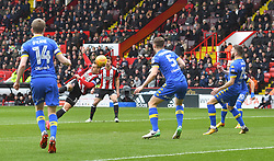 Sheffield United's Billy Sharp scores his sides opening goal