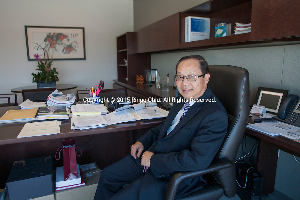 Pin Tai, president of Cathay Bank.<br /> (Photo by Ringo Chiu/PHOTOFORMULA.com)