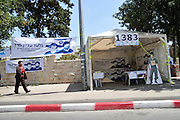 Israel, Jerusalem Demonstration in support of Gilad Shalit in front of the Prime Ministers official residence