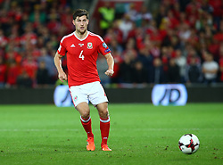 October 9, 2017 - Cardiff City, Walles, United Kingdom - Ben Davies of Wales .during FIFA World Cup group qualifier match between Wales and Republic of Ireland at the Cardiff City Stadium, Cardiff, Wales on 9 October 2017. (Credit Image: © Kieran Galvin/NurPhoto via ZUMA Press)