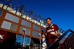 Aston Villa fans arrive at Villa Park to see their side play against Everton in the Premier League - Mandatory by-line: Robbie Stephenson/JMP - 23/08/2019 - FOOTBALL - Villa Park - Birmingham, England - Aston Villa v Everton - Premier League