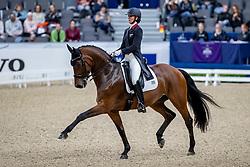 LOSOS DE MUÑIZ Yvonne (DOM), Aquamarijn<br /> Göteborg - Gothenburg Horse Show 2019 <br /> FEI Dressage World Cup™ Final I<br /> Int. dressage competition - Grand Prix de Dressage<br /> Longines FEI Jumping World Cup™ Final and FEI Dressage World Cup™ Final<br /> 05. April 2019<br /> © www.sportfotos-lafrentz.de/Stefan Lafrentz