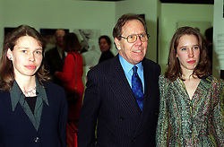 File photo dated 23/02/00 of Lord Snowdon with his daughters, Lady Sarah Chatto (left) and Lady Francis Armstrong-Jones, as the former husband of Princess Margaret has died peacefully at his home on Friday aged 86, a family spokesman has said.