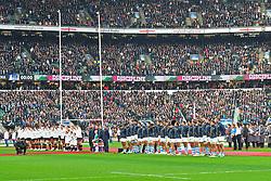 November 11, 2017 - London, England, United Kingdom - England & Argentina line up during Old Mutual Wealth Series between England against Argentina at Twickenham stadium , London on 11 Nov 2017  (Credit Image: © Kieran Galvin/NurPhoto via ZUMA Press)