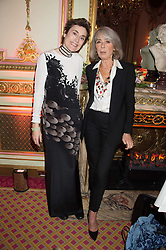 Left to right, NATASHA FRASER-CAVASSONI and ARIEL DE RAVENEL  at a reception and talk in honour of the late Loulou de La Falaise hosted by CLIC Sargent held at The Ritz, Piccadilly, London on 2nd November 2015.