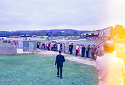 Goodwood race circuit, Surrey, England, 6 October 1962 people lining the track