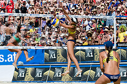 Juliana Felisberta Silva of Brazil at A1 Beach Volleyball Grand Slam tournament of Swatch FIVB World Tour 2010, final, on July 31, 2010 in Klagenfurt, Austria. (Photo by Matic Klansek Velej / Sportida)