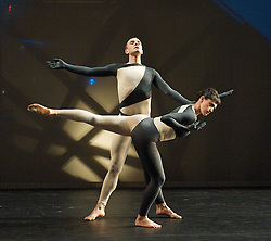 Nearly Ninety<br /> The Merce Cunningham Dance Company <br /> choreography by Merce Cunningham<br /> at The Barbican Theatre, London, Great Britain <br /> rehesrsal <br /> 26th October 2010 <br /> <br /> <br /> <br /> Brandon Collwes<br /> Emma Desjardins<br /> <br /> <br /> <br /> Photograph by Elliott Franks<br /> 2010©Elliott Franks