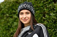 """Fotball Menn Rosenborg Allstars Showkamp<br /> Lerkendal Stadion, Trondheim<br /> 19 mai 2017<br /> <br /> Rosenborg-supporter med lua """"RBK 100 år""""<br /> <br /> Foto : Arve Johnsen, Digitalsport"""