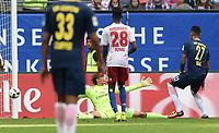 Fotball<br /> Tyskland<br /> Foto: Witters/Digitalsport<br /> NORWAY ONLY<br /> <br /> 0:4 Tor v.l. Torwart Rene Adler (HSV), Gideon Jung, Torschuetze Davie Selke (Leipzig)<br /> Hamburg, 17.09.2016, Fussball Bundesliga, Hamburger SV - RB Leipzig 0:4
