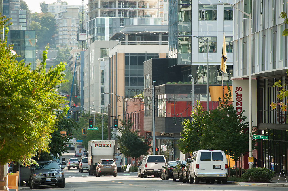 2017 SEPTEMBER 22 - View eastward on Republican St from Dexter Ave N in the South Lake Union area, Seattle, WA, USA. By Richard Walker