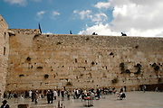 Jerusalem, Israel a general view of the Jews praying at male section of the Wailing Wall, November 2005
