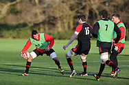 Aaron Shingler in action. Wales rugby team training at the Vale, Hensol, near Cardiff on Thursday 29th November 2012. the team are preparing for their final Autumn international match against Australia this Saturday. pic by Andrew Orchard, Andrew Orchard sports photography,