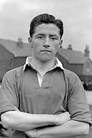 Fotball<br /> Manchester United historie<br /> Foto: Colorsport/Digitalsport<br /> NORWAY ONLY<br /> <br /> Bildene inngår ikke i nettavtalene<br /> <br /> Roger Byrne (Manchester United) 1949/50 Photocall.